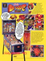 Dr. Dude And His Excellent Ray (pinball) — 1990 at Barcade® in Jersey City, NJ | arcade video game flyer graphic