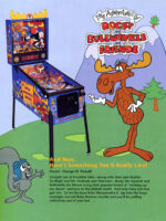 The Adventures of Rocky and Bullwinkle and Friends (pinball) — 1993 at Barcade® at Jersey City, NJ   arcade video game flyer graphic