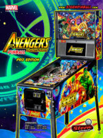 Avengers Infinity Quest Pro (pinball) — 2020 at Barcade® at Jersey City, NJ   arcade video game flyer graphic